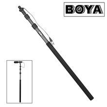 """Boya BY-PB25 Fiber De Carbone Microphone Boompoles avec Interne XLR Câble 1 m (3.3 """") à 2.5 m (8.2"""") Micro Perche"""