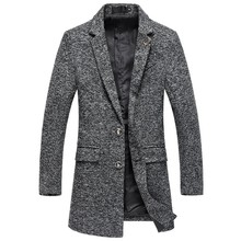In the autumn of 2016 Winter in the new men long woolen cloth coat The fashion leisure coat