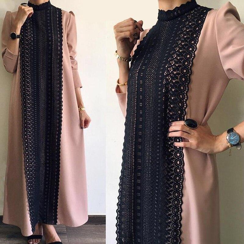 Lace Abaya Kaftans Dubai Islamic Arabic Muslim Hijab Dress Turkish Caftan Elbise Ramadan Qatar Robe Musulmane Longue Vestidos