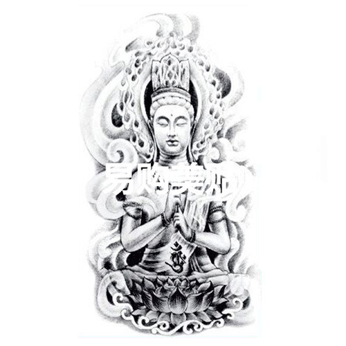 US $0 99 |Wholesale tattoo stickers waterproof men and women religious  statues original simulation flower arm tattoo totem tattoos AX60-in  Temporary