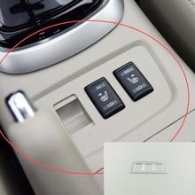 Для NISSAN TIIDA ABS хромированные автомобильные аксессуары для укладки сидений, кнопка нагрева, рамка, панель, накладка