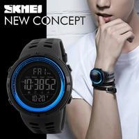 SKMEI Famous Luxury Brand Mens Sport Watches Chrono Countdown Men Waterproof Digital Watch Military Clock Fashion