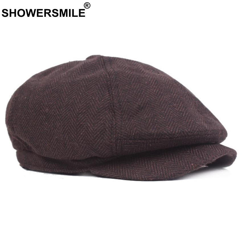 SHOWERSMILE Newsboy Hat Men