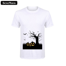 SexeMara Mens Casual White Basic Tee Plain Crew Neck Slim Fit Soft Short Sleeve T-Shirts Cotton Halloween Top Tee Clothes Outfit цена