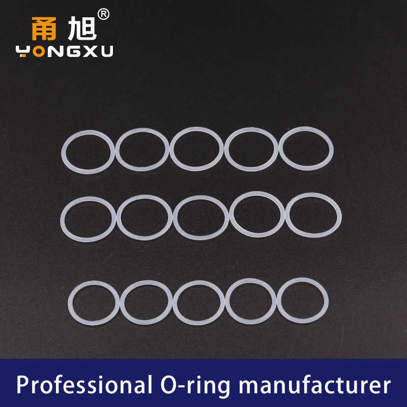 5 ชิ้น/ล็อตซิลิโคนสีขาวแหวนซิลิโคน/VMQ O-แหวน OD5/6/7/8/9 /10/11/12/13/14*2 มม.O แหวนซีลปะเก็นยางกันน้ำเครื่องซักผ้า