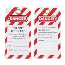 Lockey 12 個ユニバーサル PVC 安全危険ロックアウトタグ警告カスタマイズロトロックタグ LT03