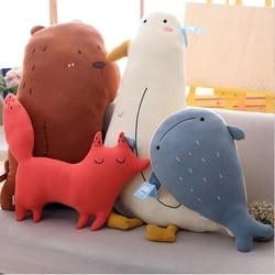 Estilo japonês crianças dos desenhos animados urso travesseiros macio meninas quarto brinquedos bebê acompanhar sono brinquedo de pelúcia travesseiro brinquedos macios para bebês