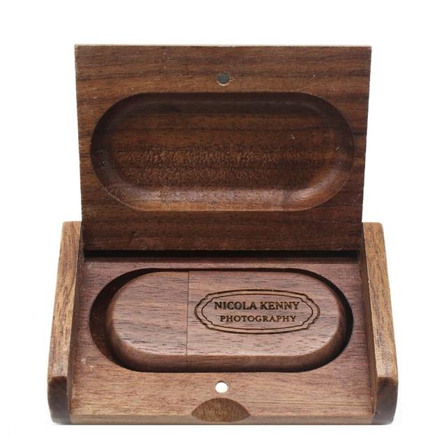 Wooden box Custom LOGO usb flash drive pen drive USB Flash Drives
