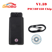 V1.59 Version OP COM Auto Diagnostic Tool Scanner with PIC18F458 chip OBD2 OP-COM/OPCOM CAN BUS For Opel