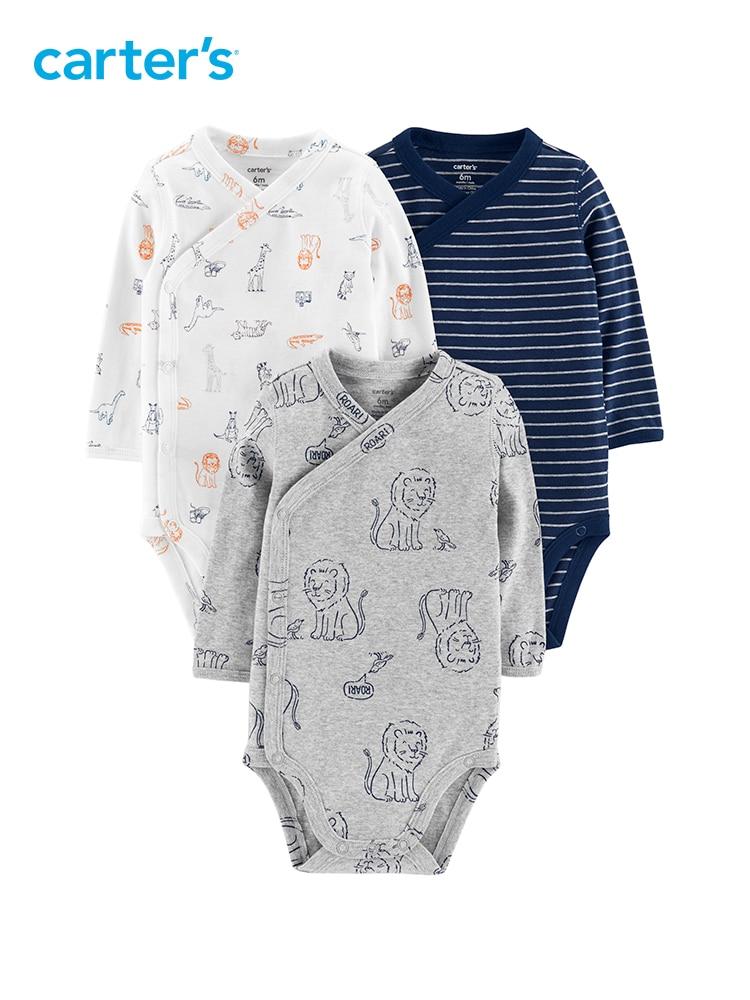 Carter/'s Baby Boy Clothes Long Sleeves Bodysuit Preemie Newborn Infant NEW