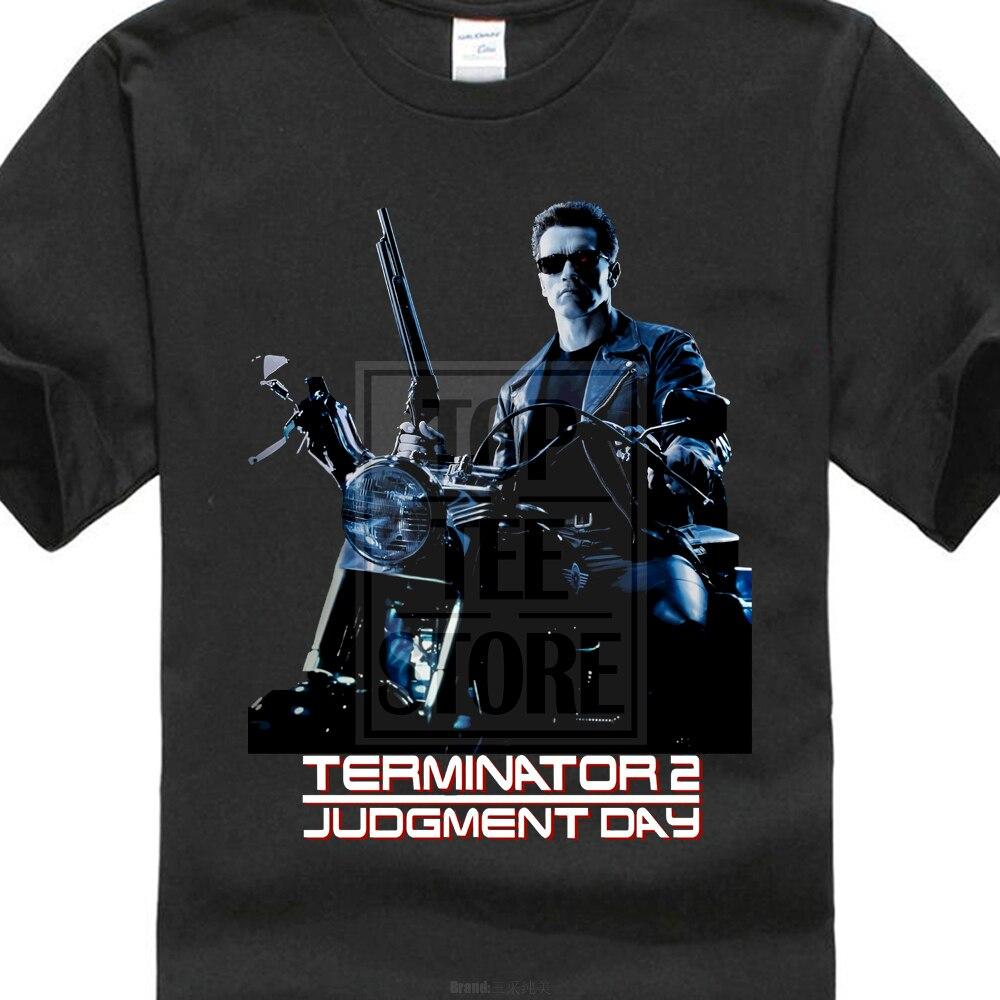 Terminator 2 Judgement Day Arnold Schwarzenegger Movie T Shirt