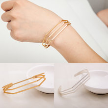 Leaves Gold & Silver Plated Bracelets & Bangles Fashion Open Bangle Women Cuff Bracelet Pulseiras Pulseira Feminin(China)
