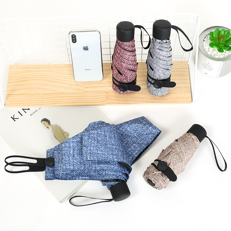 New portable men's umbrella mini pocket bear umbrella UV protection rain folding ladies small 50 percent sun umbrella sale 3