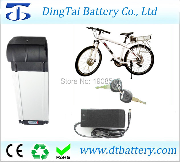 Rear rack electric bike battery 36V 15.6Ah Lithium ion INR18650 2600mAh- ebike battery pack with capacity display, back light 2016 promotion new standard battery cube 3 7v lithium battery electric plate common flat capacity 5067100