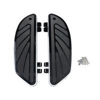 Black Rider Footboard Insert Kit For Harley FLD FL Softail Touring Trike Models