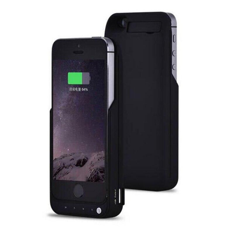 imágenes para 2017 nueva goldfox 4200 mah batería externa para iphone 5 5s se caso de reserva del cargador del teléfono de emergencia cargador de batería del teléfono caso