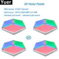 4 шт./лот ADJ 3D стерео светодиодный свет 126 шт. 5050 SMD 3in1 RGB светодиодный светильник dmx512 для dj света светодиодный полосы Вечерние Показать Дискоте
