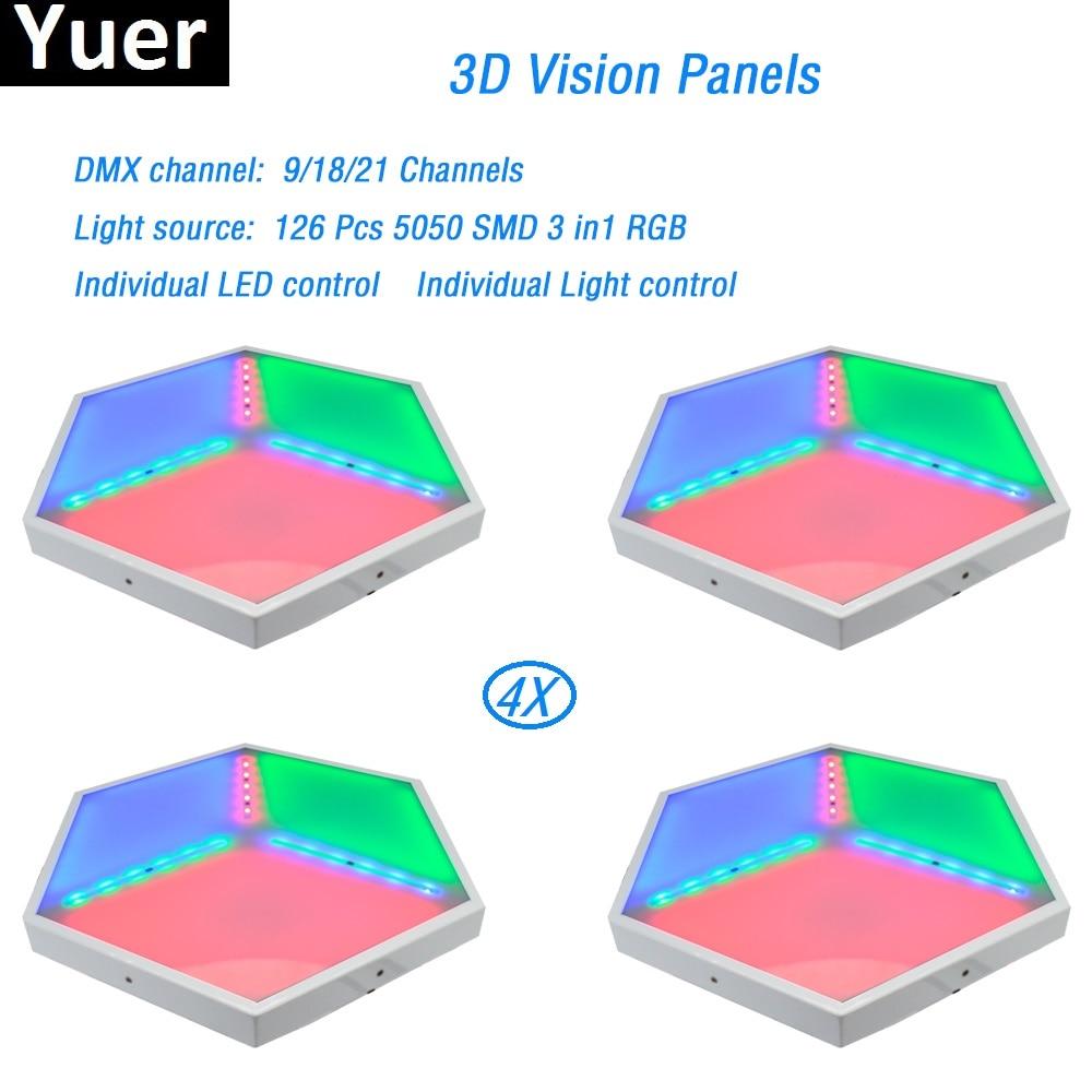 4Pcs/Lot ADJ 3D stereo LED Light 126pcs 5050 SMD 3in1 RGB led lamp dmx512 for dj light led strip party show disco light wash par 20pcs lot lm1085is adj