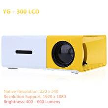 Mini Proyector de Probable Concisa Compacto Eficiente YG300 YG-300 Proyector LCD 400-600 LM 320×240 Píxeles Casa Inteligente Reproductor de medios