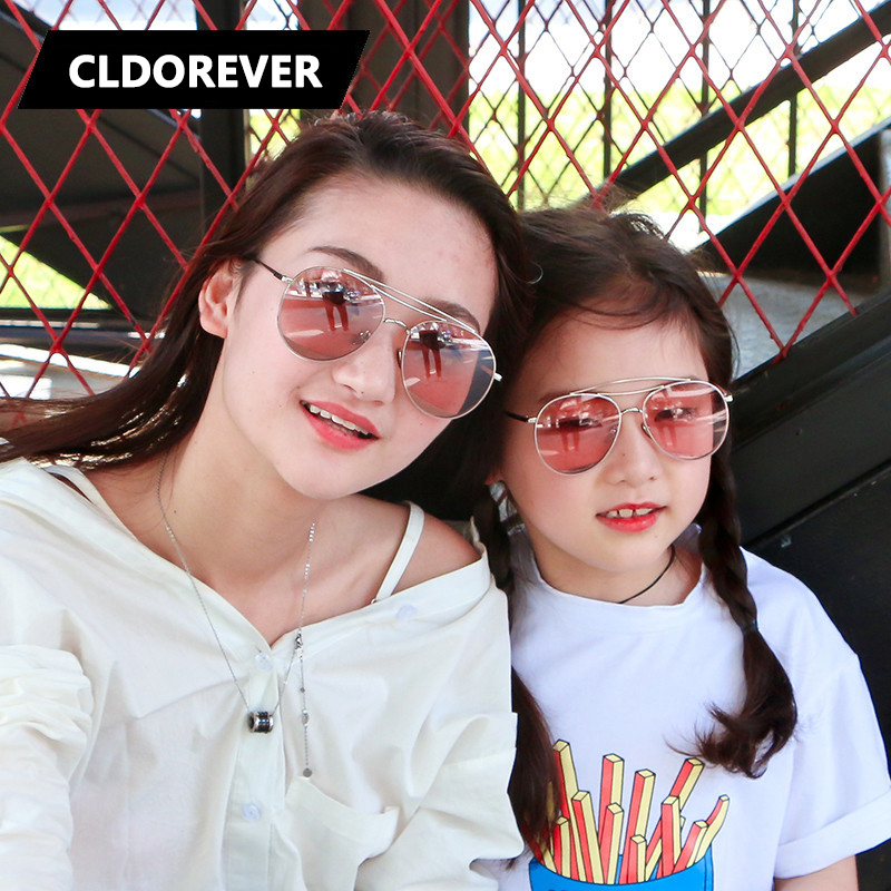 Parenting Style 2018 Vintage Sunglass Aviator Sunglasses Women Girls Brand Mirror Sun Gl ...