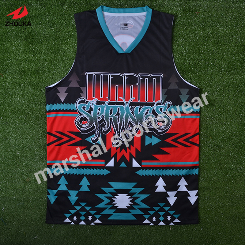 full sublimation custom 100%polyester good quality mens basketball team jerseys