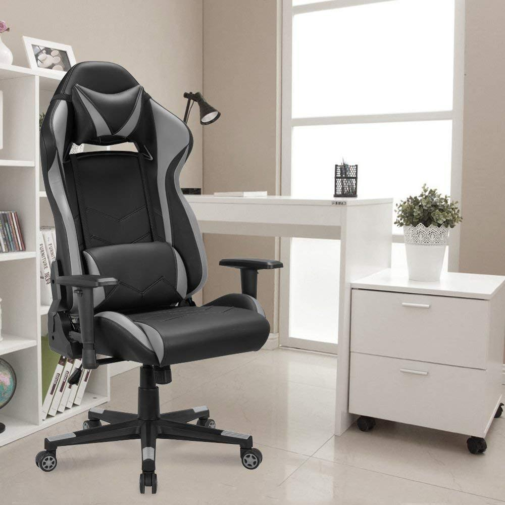 Gaming Office Executive Chair Game Racing Style Ergonomic Swivel Computer Chair Seat Height Adjustment E-sports Leather Chair GB