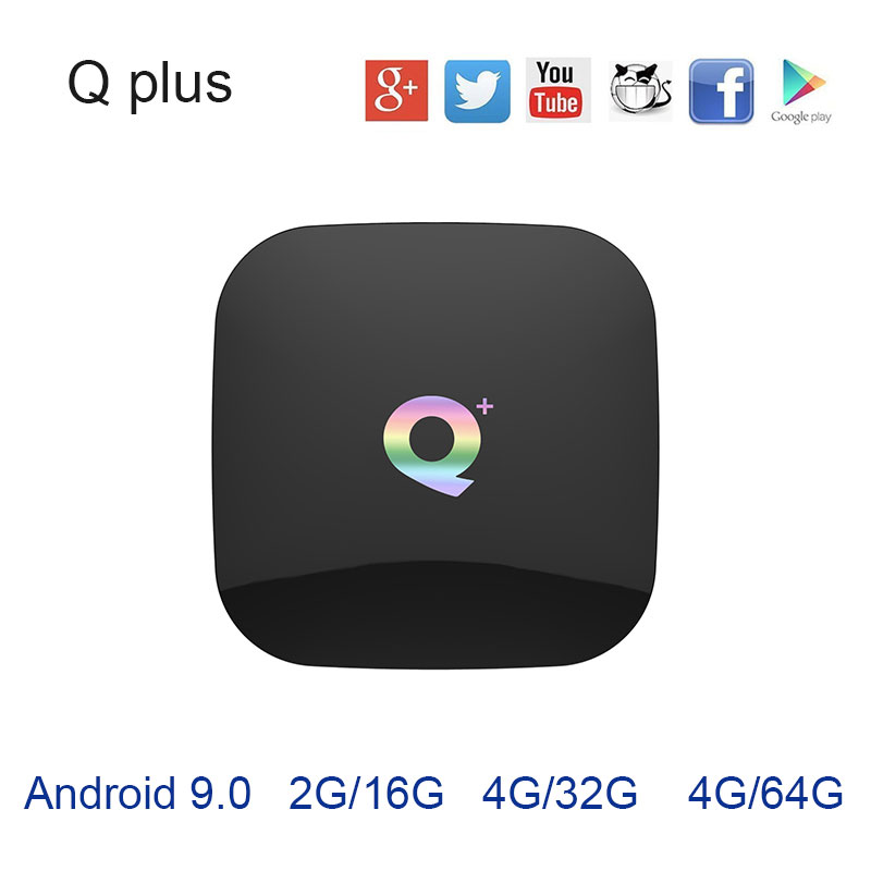 2019 Hot Q plus Android TV box 8 1 9 0 OS USB3 0 WIFI 4G32G