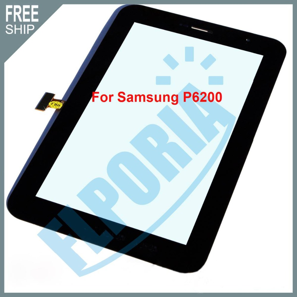 Touch Screen For Samsung Galaxy Tab 7.0 Plus P6200/P6210 Front Glass Panel Touch Screen Digitizer Lens New Tablet Touch Panel new touch screen panel digitizer glass