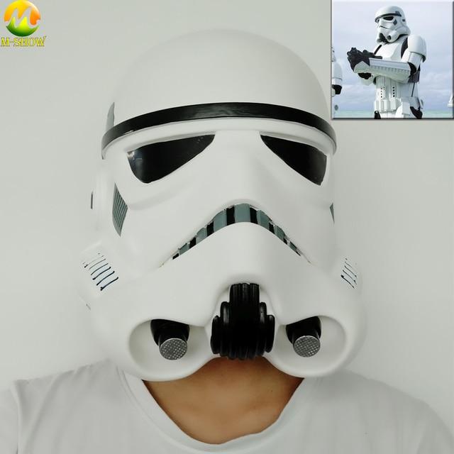 Darth Vader casco con máscara de Star Wars, Stormtrooper Imperial, tema de Halloween, accesorios de Cosplay para fiesta