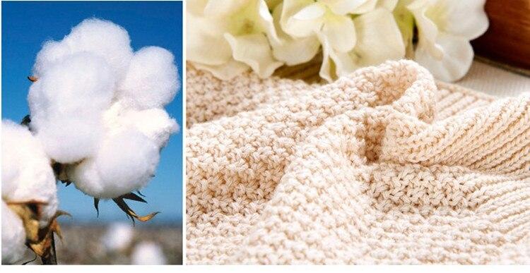 Gorąca sprzedaż wysokiej jakości 100% bawełny dzianiny koc na - Pościel - Zdjęcie 5