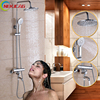Multiple Sizes 1 Set Bathroom Rainfall Shower Faucet Set Mixer Tap With Hand Sprayer Wall Mounted