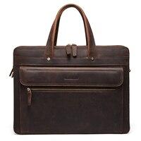 Bostanten мужские и женские дипломат сумка для бизнеса из натуральной кожи 15,7 дюймов ноутбук мужской портфель на ремне сумка через плечо