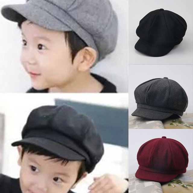 a2aaabbe039 Cute Baby Kids Wool Beret Hat Girls Boys Adjustable Beanies Cap Autumn  Winter Warm Baret Hats