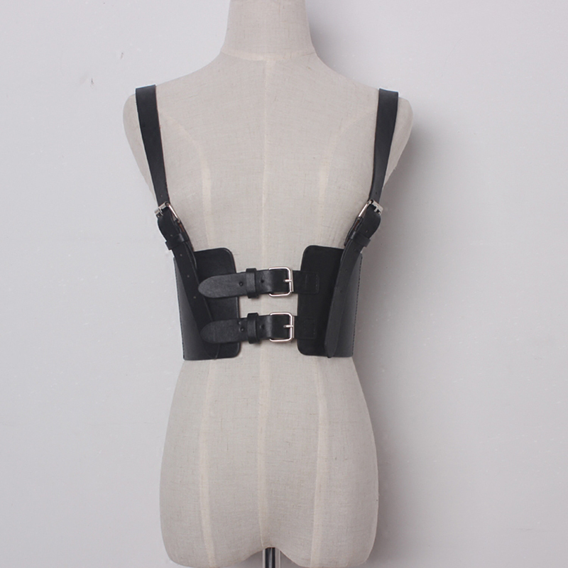 TWOTWINSTYLE Sexy Punk Lady Harness Suspenders Belts Strap Faux Leather Body Bondage Women Waist Belts Adjustable  Accessories