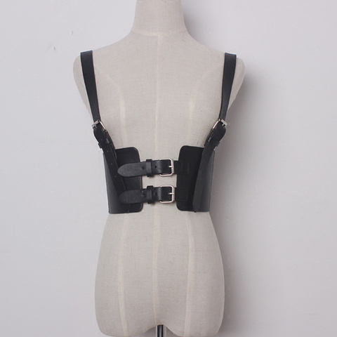 TWOTWINSTYLE Sexy Punk Lady Harness Suspenders Belts Strap Faux Leather Body Bondage Women Waist Belts Adjustable  Accessories Pakistan