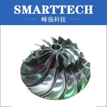 Custom Designed Precision CNC Milling Turbine Prototype Fabrication