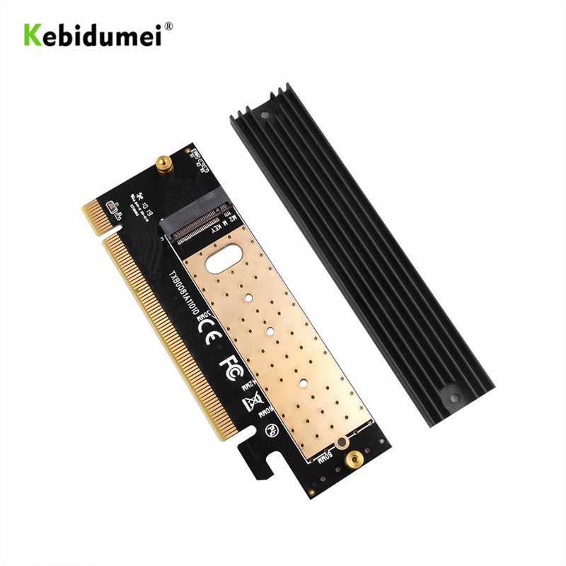 kebidumei Add On Card M.2 NVMe SSD NGFF TO PCIE 3.0 X16 X4 Adapter M Key Interface Expansion Card Support 2230 to 2280 SSD(China)