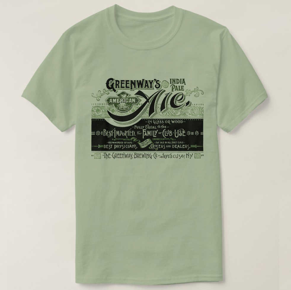 2019 Printed Men T Shirt Cotton Short Sleeve  Vintage Bier Beer Ale Greenways India Pale Ale T-Shirt  Women tshirt