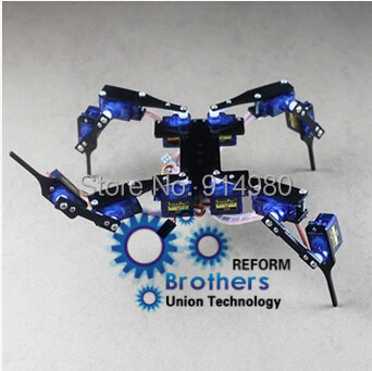 Quadruped / 4 legged robot multi-legged robot full servo bracket accessories RC Mini Robot  kit bulk,toy,steering gear 4 legged