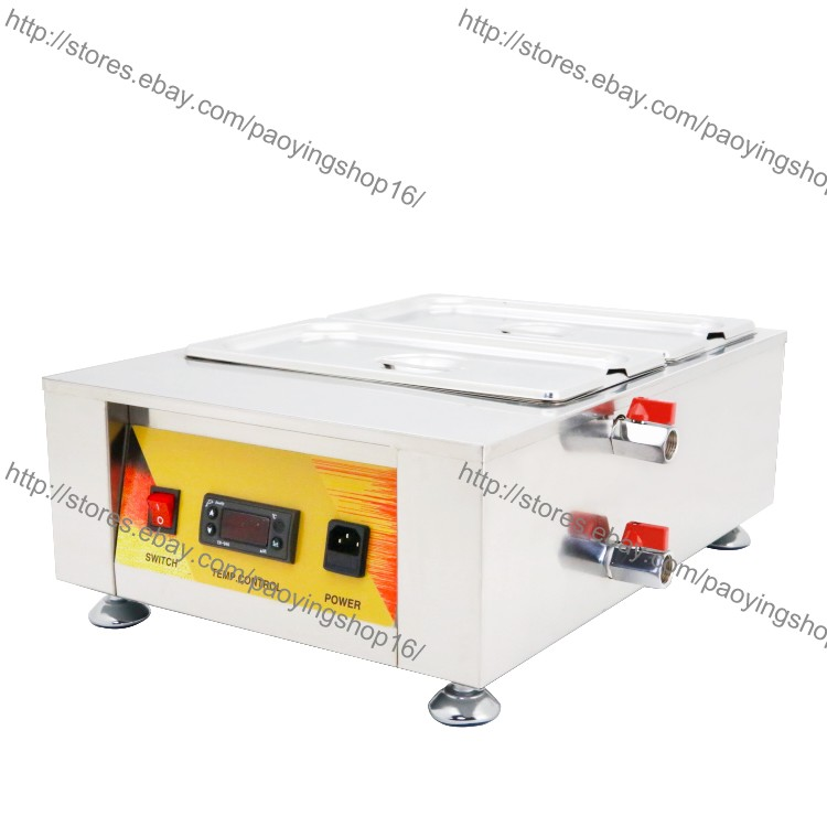 Details About 7l 2 Pot Heavy Duty Electric Chocolate Tempering Machine Choco Melting Machine