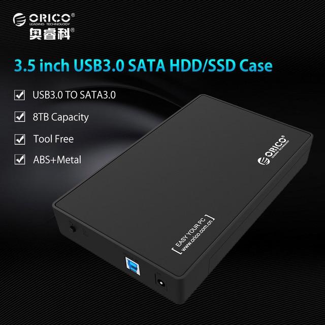 ORICO SATA 3.0 USB 3.0 2.5 и 3.5 дюймов SSD и SATA HDD корпус Портативный Случае Инструмент-бесплатная [Поддержка протокола UASP и 8 ТБ]