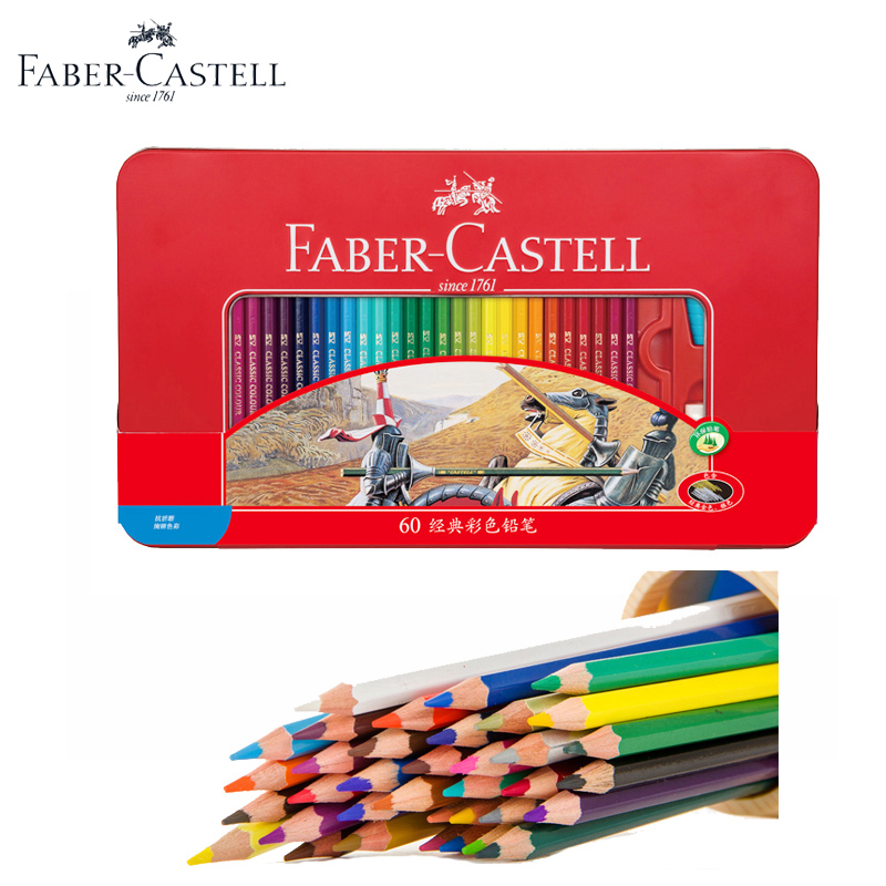 Faber-Castell 48/60 Oily Color Pencils Colored Pencils lapices de colores acuarelables 48 Color Pencil School Fine Art Supplies faber orizzonte eg8 x a 60 active