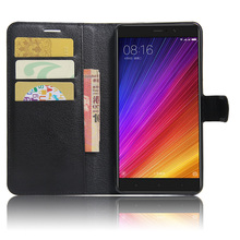 Купить с кэшбэком Litchi Texture Leather Case for Xiaomi Mi5s Plus Flip Cover Case for Xiaomi Mi 5S Plus Wallet Stand Style Magnetic Phone Case