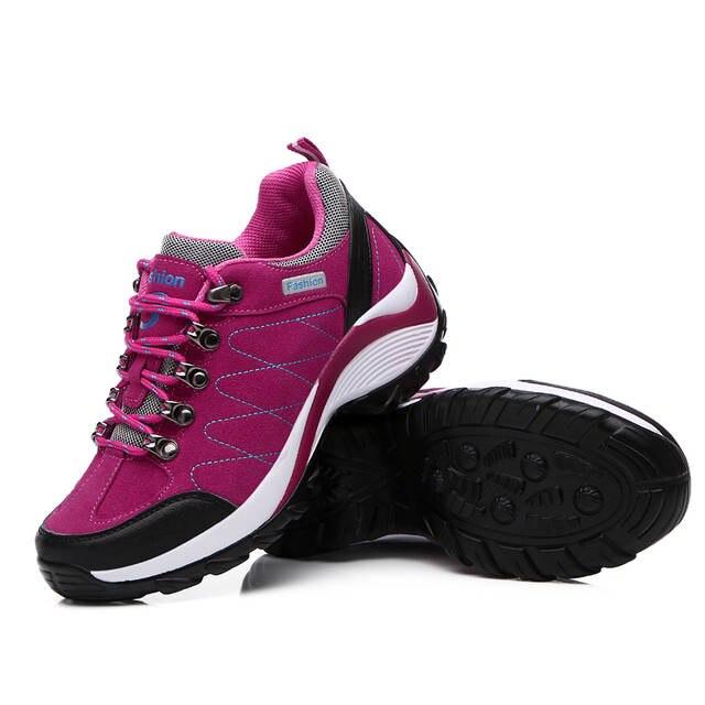 Online Shop 2016 Waterproof Trekking Boots Women Best Hiking Boots For Women  Height Increasing Hiking Boots Brand Lightweight Hiking Shoes  041ee2fc3