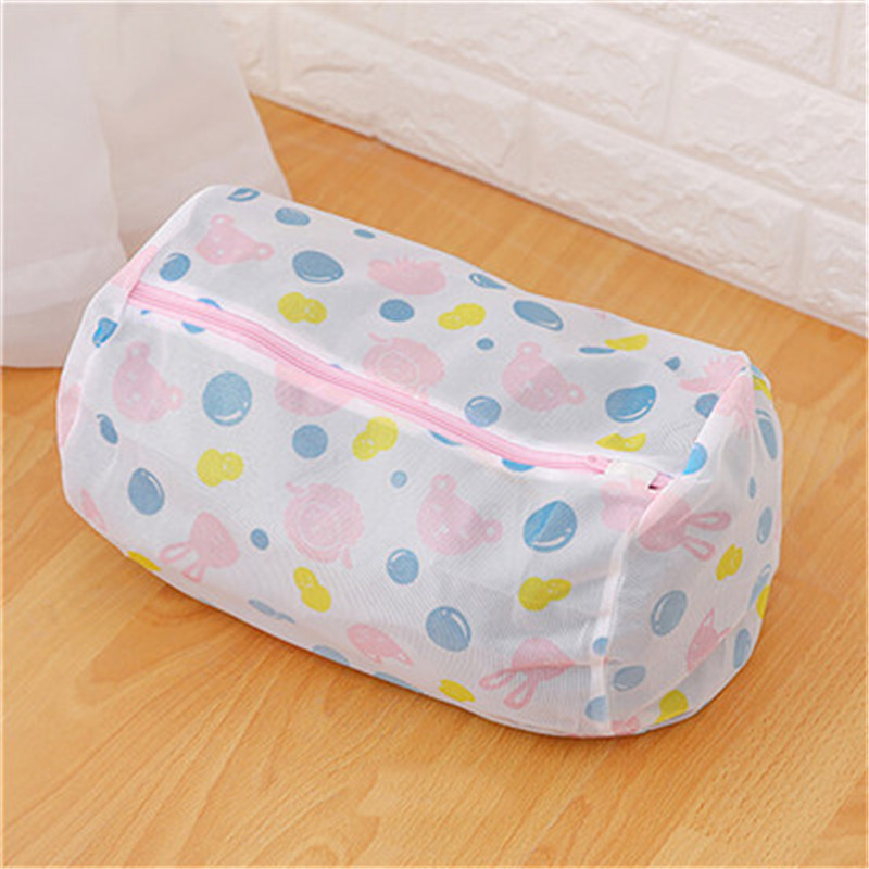 Laundry Washing Bags For Clothes Bra Underwear Zippered Foldable Nylon Mesh Laundry Bags Household Cleaning 2018 fashion