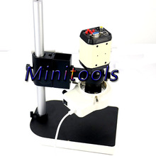 Cheap price 2MP HD 3 in1 Digital Industrial Microscope Camera VGA USB CVBS TV outputs+56 LED ring Light+stand holder+130X C mount lens