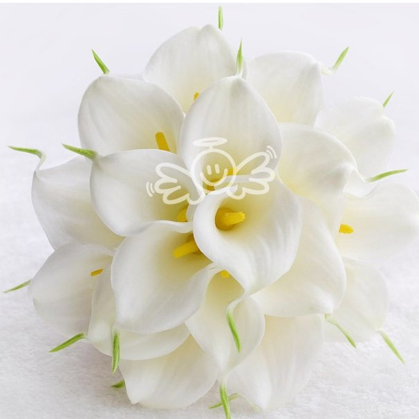 Hot Calla Lily Wedding Bouquet Bridal 18 Pcs Latex Real Touch Flower ...