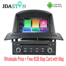 JDASTON 1 DIN Octa Core 2GB Ram Android Car DVD Player For RENAULT Megane II/Fluence 2002-2008 Multimedia GPS Navigation Radio