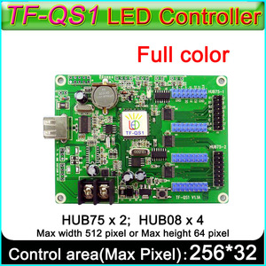 Image 1 - TF QS1สีเต็มรูปแบบนำเข้าสู่ระบบควบคุมบัตร. Hub75พอร์ตHub 08พอร์ตRGB Ledควบคุม