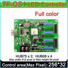 TF QS1 كامل اللون LED تسجيل بطاقة التحكم. Hub75 ميناء المحور 08 ميناء RGB Led المراقب المالي